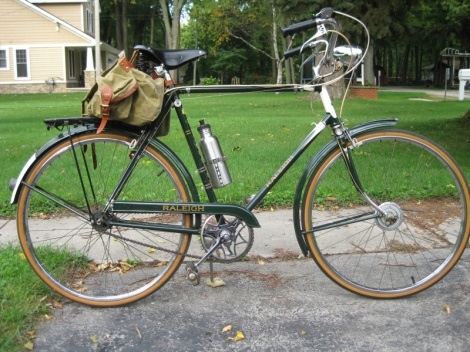 Repurposed - refurbished Raleigh bike