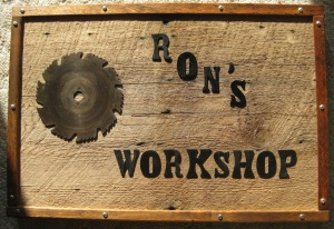 Repurposed Barn Board Sign